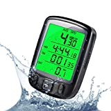 Cycle Bicycle Bike LCD Computer Odometer Speedometer with Backlight Monitor Bikes'...