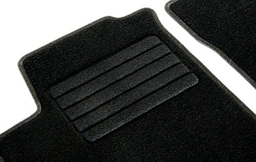 Preisvergleich Produktbild Velours Passform Fußmatten Set, Schwarz für Audi A4 B9, Mod. Bj. 11/15-