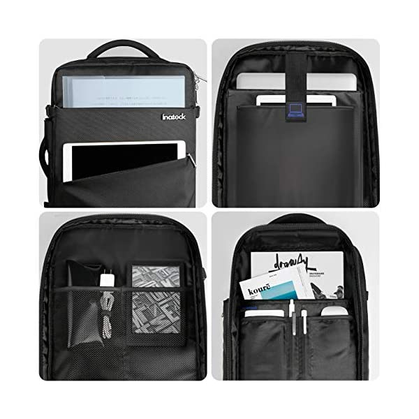 51vuWDVBgdL. SS600  - Inateck 30L Mochila de Viaje de Negocios de 15.6 Pulgadas para excursión del Fin de Semana, Bolsa de Mano Carry on Backpack aprobada por Vuelo, Azul