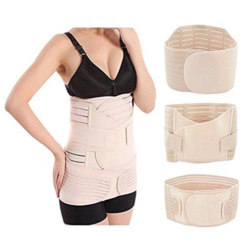 Itian 3 in 1 cintura post-parto elastico traspirante, cintura di pancia banda di pelvica per le donne e maternità