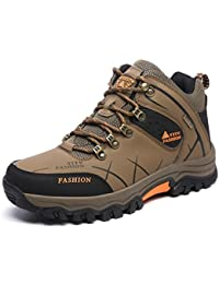 ONENICE Men's Hiking Boots High Top Trekking Shoes Non Slip Outdoor Warm Waterproof Walking Climbing Sneakers