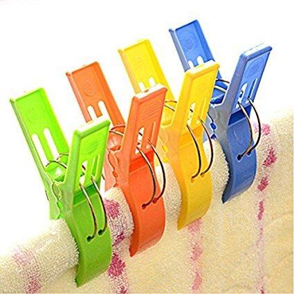 Handtuch Clip, Designerbox 4bunte Strandtuch Quilt Clips, Sonnenliege, Solarium Peg, Solarium, Pool, CRUISESHIP für Haushalt Quit, Bettbezug Verwenden Surf-quilt-set