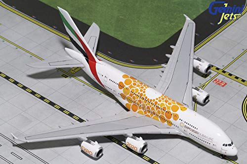 Gemini GJUAE1815 Emirates Airbus A380 ORANGE Expo Logo 1/400