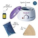 ♥ MEALISS 10 - 4in1 Komplett Waxing Kit ♥ Brazilian Waxing-Set - Elektrischer Wachswärmer - Heisswachs-Epilation ♥ Luxus-Haarentfernung für zuhause
