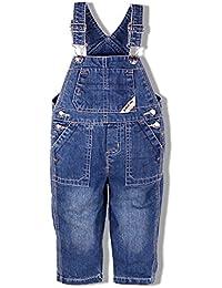 Dr.mama overoles de mezclilla de niño pantalones de entrepierna pueden abrir pantalones de tirantes de bebé