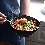 Japonais-Style Céramique Grande Soupe Ramen Noodle Bol Rétro Fruits Salade Servant Bol Créative Irrégulière Maison Vaisselle Micro-ondes Coffre-fort (Taille : 7 inch)