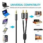 Beikell-Cble-RCA-Jack-Audio-2M-Stro-Jack-35mm-Mle-vers-2-RCA-Mle-Y-Auxiliaire-Audio-Cble-pour-TlphoneiPhoneiPodAmplificateurEnceinteHDTVCinma-Maisonvidoprojecteur-et-etc
