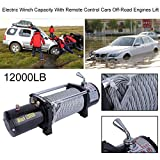 Professional Electric Winch Load Capacity Up To 12000LB With Remote Control Cars Off-Road Engines Lift Winch