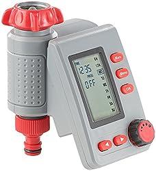 Royal Gardineer Bewässerungsuhr: Digitaler Bewässerungscomputer BWC-100 mit Magnet-Ventil (Wasserschaltuhr)