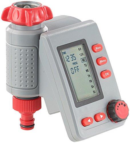 Royal Gardineer Bewässerungsuhr: Digitaler Bewässerungscomputer BWC-100 mit Magnet-Ventil (Automatische Bewässerung)