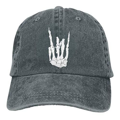 Bone Rock Gesture Unisex Ajustable Vintage Cowboy Hat Denim Gorras de béisbol