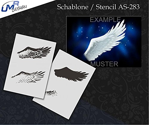 UMR-Design AS-283 Angel Wing Sagoma per aerografo Step by Step Size M