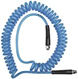 Spiralschlauch, Verschraubung, gewebever. PU, G 1/4, ø 10x6,5, 6 m