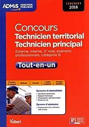 Concours Technicien territorial et technicien principal - Catégorie B - Tout-en-un - Concours 2016