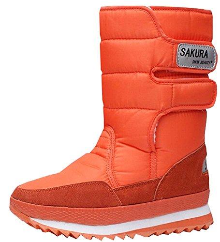 Beinschuhe Neue Wasserdichte 2015 Schneeschuhe Mit Orange Stiefel Plattformfrauen Hohen rIqWSdfq
