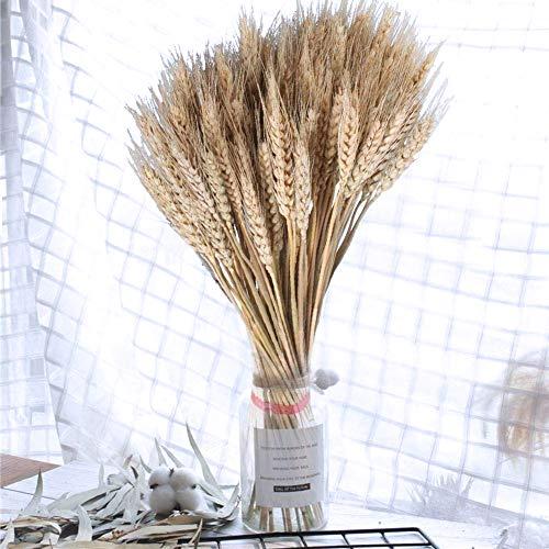 PoeHXtyy 100 STÜCKE Natürliche Getrocknete Weizen Garben Braut und Bräutigam Mit Blume Hochzeit Hauptdekorationen Mittelstücke