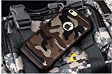 Moca(Tm) Iphone 4S Iphone 4G Back Cover Case,Luxury Leather Brown Desert Camouflage Back Cover Case For Apple Iphone 4S Iphone 4G Back Cover Case Shoc