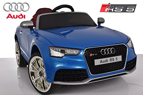 Audi RS5 de Babycoches, Licencia Oficial, 12 V, Mando Parental, Neumaticos Caucho, Asiento Ergonomico, Color Azul
