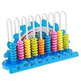 Homyl Kunststoff Rechenrahmen mit mehrfarbige 90 Perlen Zählrahmen Rechenhilfe, Kinder Mathematik Lernspielzeug - Blau
