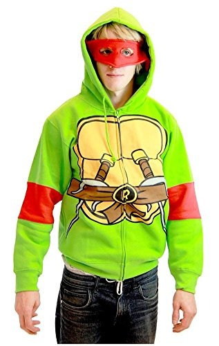 Turtles Ninja Erwachsene Kostüme (Teenage Mutant Ninja Turtles Michelangelo Kostüm Erwachsene Hooded Sweatshirt)