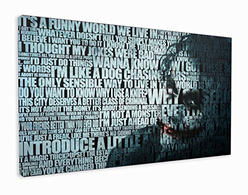 M2M Prints Kunstdruck auf Leinwand, Motiv: Joker, Canvas, Multi, 127x76cm (50x30 Inches)