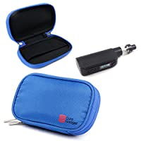 Premium Protective Case in Blue Memory Foam with Dual Zips for the e-Cigarettes + Accessories - by DURAGADGET