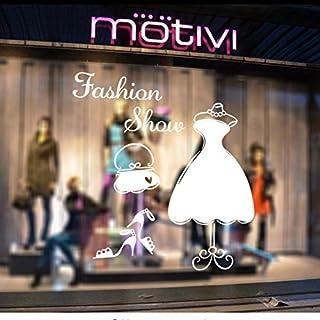 FUZILV Wall sticker DIYWardrobe Art Decals Fashion Show Shop Window Sticker Dressing Vinilos Paredes Movable Pegatinas De Pared Adesivo Pegatinas