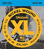 D\'Addario Cordes en nickel pour guitare électrique D\'Addario EXL110+, Regular Light Plus, 10.5-48