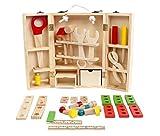 Eozy Kinder Werkzeugkasten Aus Holz Spielwerkzeug Baby Motorikspielzeug Holzspielzeug