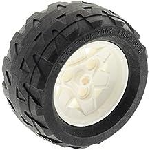 LEGO Bausteine & Bauzubehör 4x Lego Group Rad Reifen mit Felge weiß 43.2x28 S LEGO Bau- & Konstruktionsspielzeug