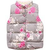 Brightup Girl Autumn Winter Warm Gilets,Little Girls Vest Coat,Kids Waistcoat Jackets