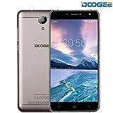 Telephone Portable Debloqué, DOOGEE X7S Smartphone 4G, Écran 6 Pouces - 1 Go RAM + 16 Go ROM - Android 6.0 - Double SIM - 5MP+8MP Double Caméra - 3700mAh - Geste Intelligent - Vue Partagée - OTG GPS - Téléphone Portable Pas Cher Sans Forfait - Or