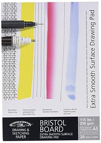 Winsor & Newton Bloc de carton bristol à dessin extra lisse A5