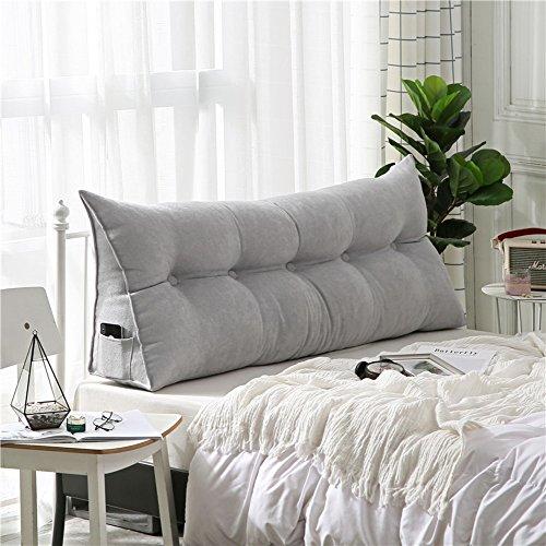 Polstermöbel Dreieckiger keil kissen, -sofa-bett kissen Sitzkissen Bettruhe Lesen kopfkissen Rückenlehne positionierung support pillow,Lumbale pad für büro-bett-sofa-grau 20x50x80cm(8x20x31)