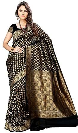 Asavari Faux Georgette Banarasi Midnight Elegant Saree