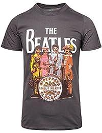 Beatles, The - Herren Sgt. Pepper T-Shirt in der Holzkohle