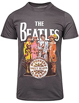 Beatles, The - - Hombres Sgt. Pepper T-Shirt en carbón de leña
