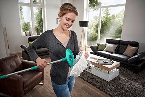 Leifheit 7117-Recambio Cabezal Clean Twist Disc mop, Compuesto, 22.5x26x4 cm