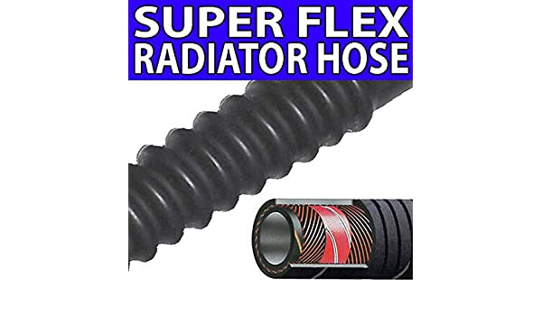 "25mm 1/"" Flexible Rubber Radiator Convoluted Hose 1M"