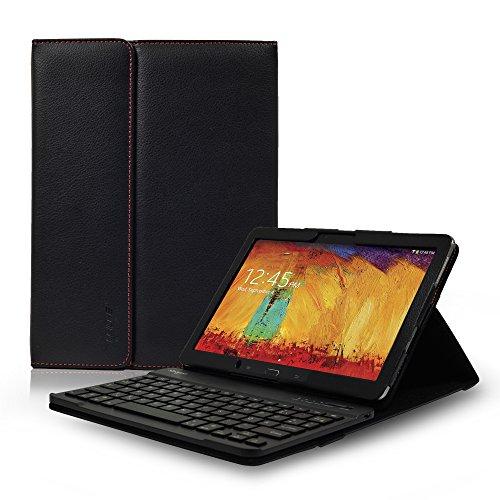 Sharon Samsung Galaxy Note 10.1 Edition 2014 Tastatur Hülle Schutzhülle | Tasche Case mit herausnehmbarer Tastatur in Notebook Qualität| Bluetooth-Keyboard (Samsung-Deutsch, QWERTZ)
