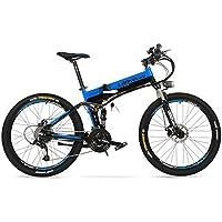 Batería de litio oculta XT750 240W 36V 12.8Ah, bicicleta eléctrica plegable de 26