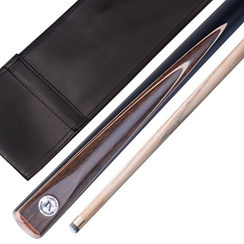 "3/4 Unisex ""The Pros""Snooker Queue in Turnierqualität, Koffer and Extender T3SC8 (SA12) (19 Oz Pool Cue)"