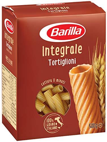 Barilla Pasta Tortiglioni Integrali Pasta Corta di Semola Integrale di Grano Duro Integrale 500 g