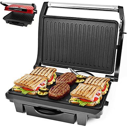 morocca Dunlop® Tischgrill Elektrogrill Kontaktgrill Sandwichmaker Panini Maker Grill -