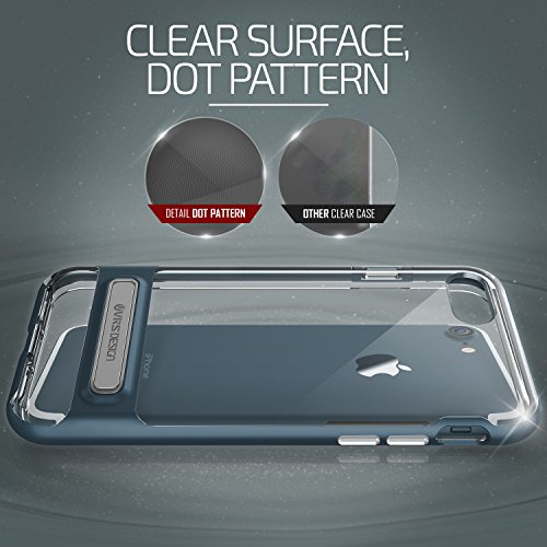 URCOVER Custodia Protettiva Verus Case Crystal per Apple iPhone 7 | Back Cover Doppia Trasparente | Scocca Rigido Bumper Anti-Shock Ultra-Slim in Rosa Azzurro mare