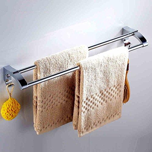 QFF acier inoxydable double salle de tige matériel accessoires porte-serviettes de bain porte-serviettes de bain (taille : 50 cm)