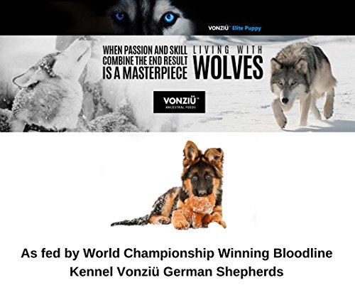 Vonziu Elite Premium Hundefutter / Welpenfutter – Hochenergetische Tiernahrung – Für kleine & große Hunderassen – Hypoallergen – Reich an Fischöl / Vitaminen / Mineralien – 100% Bio-Zutaten - 4