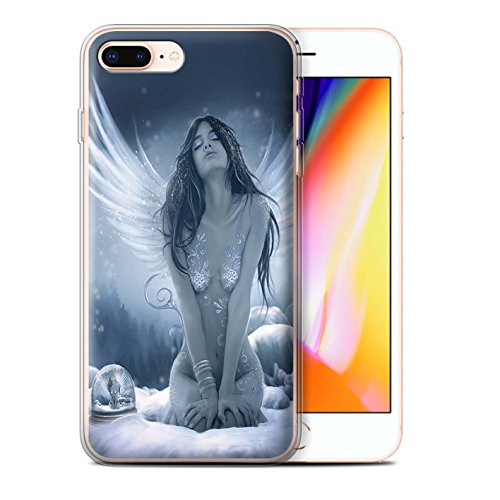Officiel Elena Dudina Coque / Etui Gel TPU pour Apple iPhone 8 Plus / Robe Air Design / Fantaisie Ange Collection La Nieve