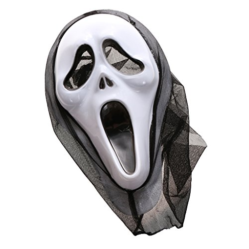 Generic Halloween Prop Ghost Scary Scream Face Mask Fancy Party Dress Decor  available at amazon for Rs.220
