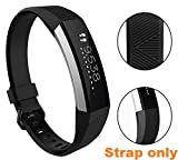 #6: Newest Fitbit Alta HR and Alta Band With Metal Clasp, iloft Silicone Replacement Band for Fitbit Alta HR and Alta (Classic) (Strap Only. Tracker not Included)